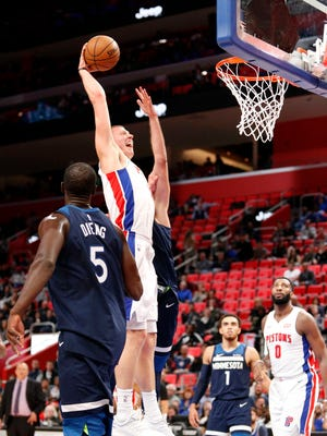 Pistons forward Henry Ellenson has earned a spot in the Pistons' rotation thanks to his play against several star 7-footers this week.