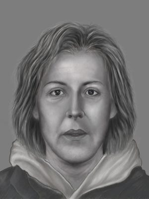 The Gloucester County Prosecutor's Office is seeking help identifying this woman, whose remains were discovered along the Delaware River in West Deptford.