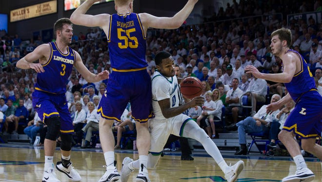 FGCU senior guard Brandon Goodwin and company couldn't quite turn the corner after falling behind Lipscomb by 32 points in last Sunday's ASUN tournament home championship game. But the Eagles seem to be rebounding nicely for a run at the NIT title.
