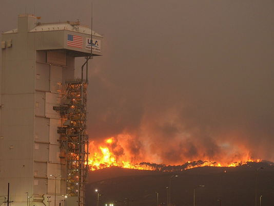 Fire at Vandenberg Air Force Base
