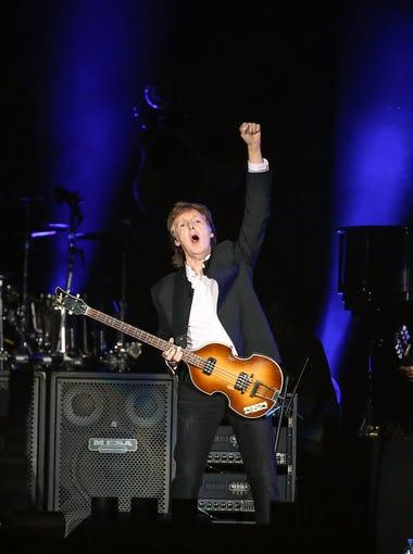 Paul McCartney performs at Desert Trip Music Festival