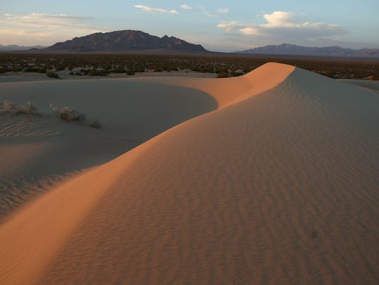 Sand dunes in the Cadiz Dunes Wilderness may be removed