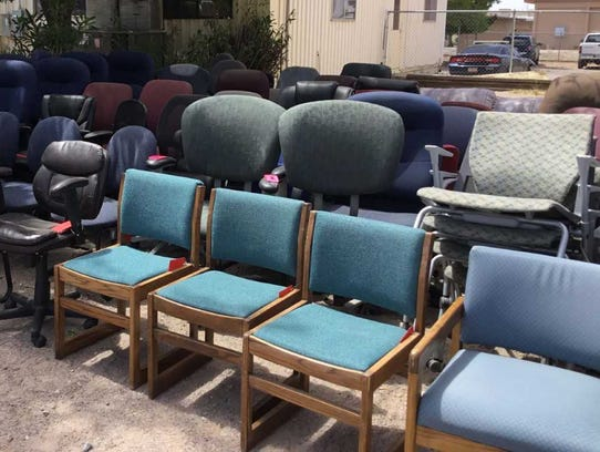 These chairs will be included in a city auction taking