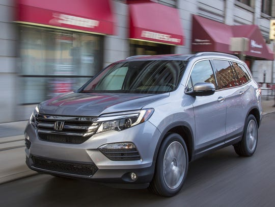 The 2017 Honda Pilot, which ranks No. 9 in the Made