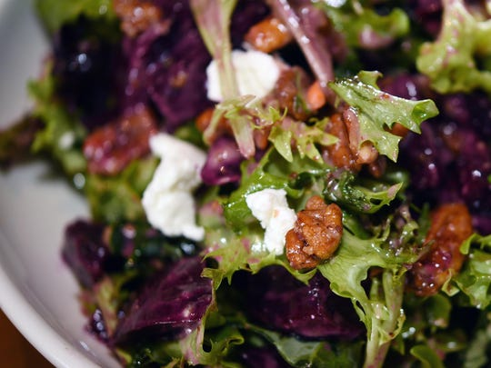 Tupelo Honey Cafe's Scarlet beet salad features chopped