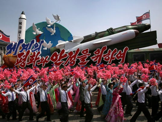 AP APTOPIX NORTH KOREA FOUNDER'S BIRTHDAY I PRK