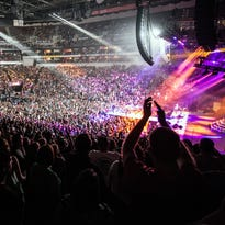 The KFC Yum! Center was packed on Thursday night for the Def Leppard, Styx, and Tesla concert. 9/3/15