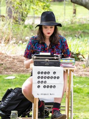 Poet-in-the-moment Abigail Mott.
