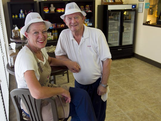 Pete and Dianne Rushton own Pete's Fish & Chips in