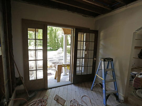 The entryway of the 1929 house is going to have a major rework and expansion to the front of the home.