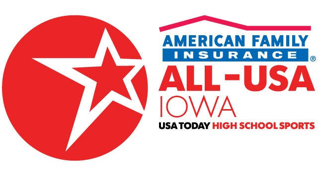 Five football players have been named American Family Insurance ALL-USA IOWA performers of the week.