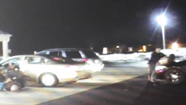 Dash-cam video shows Burlington City police officers subdue Steven Kahn of Philadelphia in February 2014.