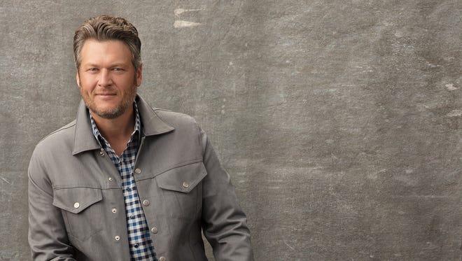 "Blake Shelton's new album, ""Texoma Shore,"" is in stores Friday."