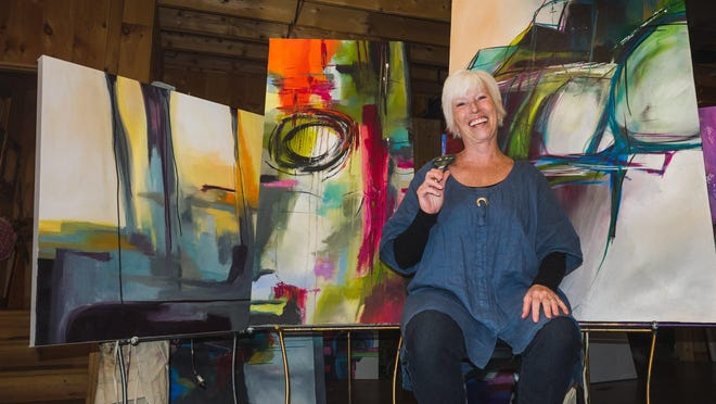 The Jackson-based painter Jane Robinson will be showing her abstract paintings at the 2015 Ann Arbor Art Fair.