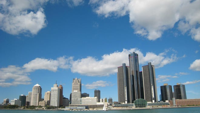 The skyline of Detroit.