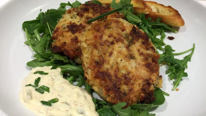 "Fish and shrimp cakes from ""Cooking for Jeffrey"" by Ina Garten."
