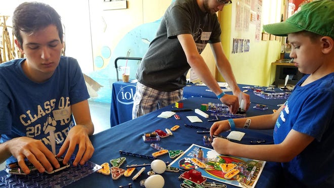Children learn from a maker at a past N.H. Maker and Food Fest in Dover. The Children's Museum announced Wednesday that the popular annual event will take place virtually online this year on Saturday, Aug. 29.