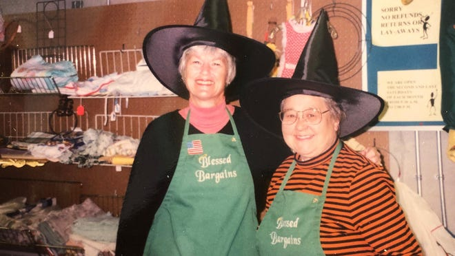 Susan Loker and Dottie Bean invite everyone to find their Halloween costume at Blessed Bargains on Saturday, Oct. 10 from 9:30 a.m. to 2 p.m.