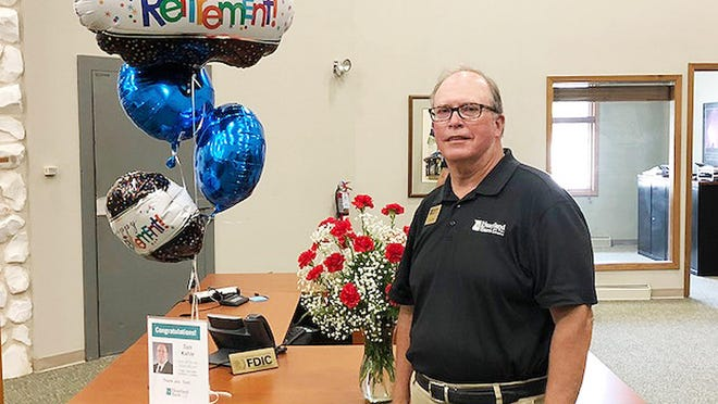 Tom Kahle recently retired from Heartland Bank and Trust in Chenoa after serving the community for 36 years.