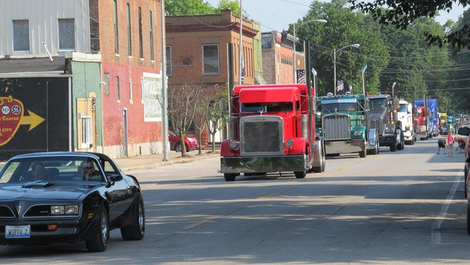 Convoy for Kids parade  rolls into Mason City. This year the event is July 18.