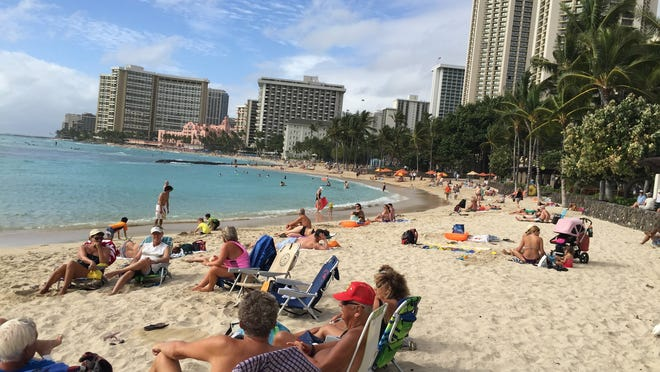 TOP: Waikiki in Honolulu is the most famous stretch of beach on Oahu.