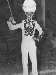 Homer Boyd in his Lincoln High School drum major's