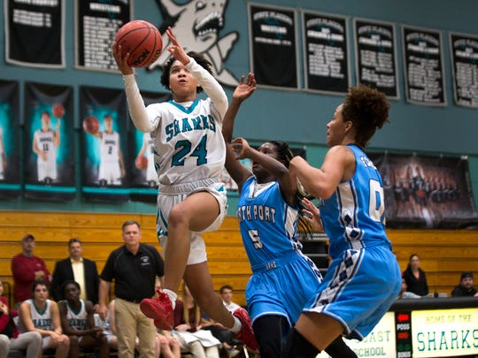Gulf Coast junior, Yasmeen Chang, goes in for a layup