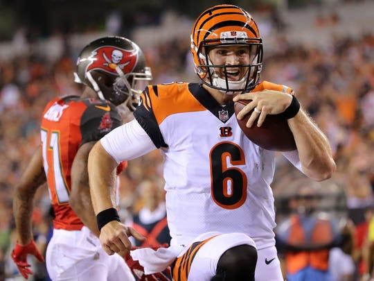 Cincinnati Bengals quarterback Jeff Driskel (6) scores