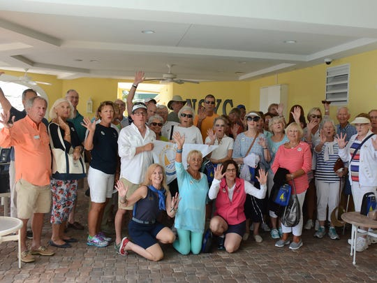 The group gathers for a photo before heading out. Sailing Heals, a nonprofit set up to take cancer patients and caregivers out sailing, organized a sail on March 8 with 30 guests going out of the Naples Sailing & Yacht Club with four volunteer sailboat skippers.
