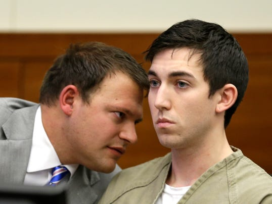 Defense attorney George Breitmayer and Matthew Cordle