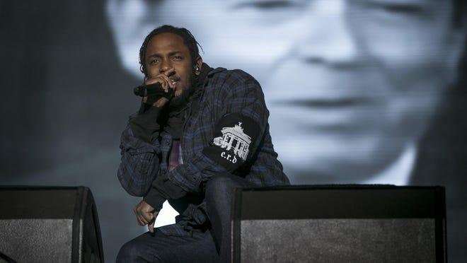 Kendrick Lamar performs Oct. 1, 2016, at the Austin City Limits Music Festival.