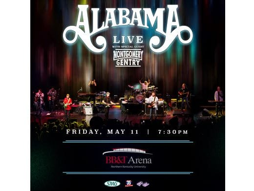 See Alabama LIVE with special guest Montgomery Gentry May 11 at BB&T Arena. Enter 2/1-2/18