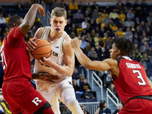 NCAA Basketball: Rutgers at Michigan