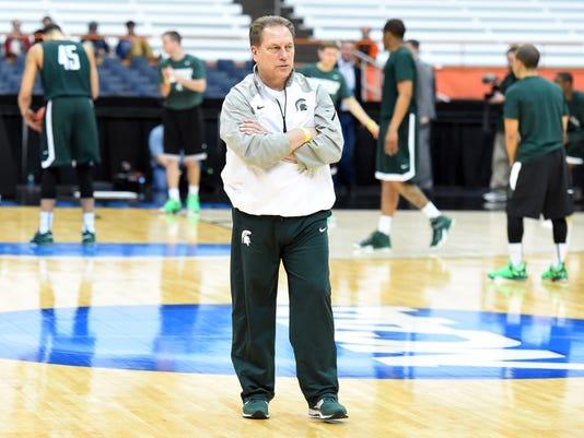 NCAA Basketball: NCAA Tournament-Michigan State Practice