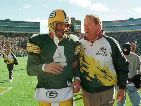 Brett Favre and Mike Holmgren began the Packers' streak