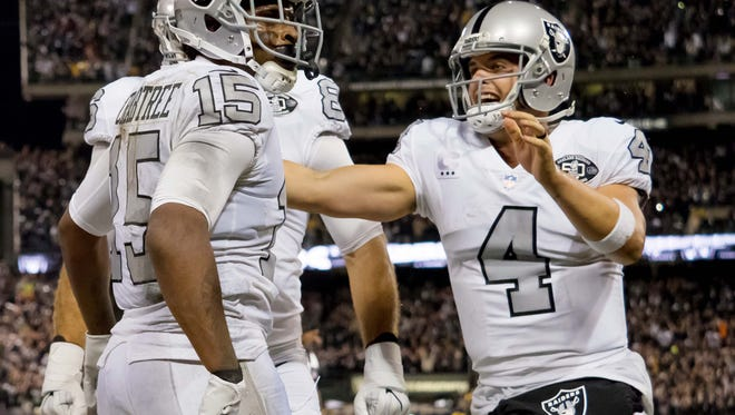 Derek Carr will be playing his first game in Buffalo on Sunday.