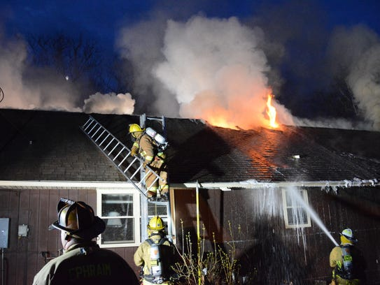 Multiple Door County fire departments responded to