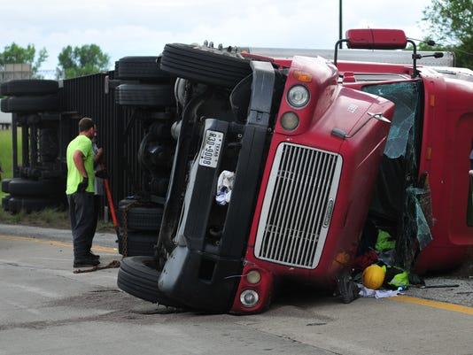 tipped truck