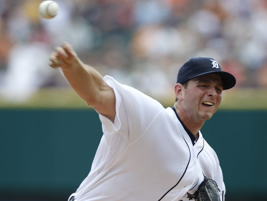 Detroit Tigers Jacob Turner in the 2nd inning against