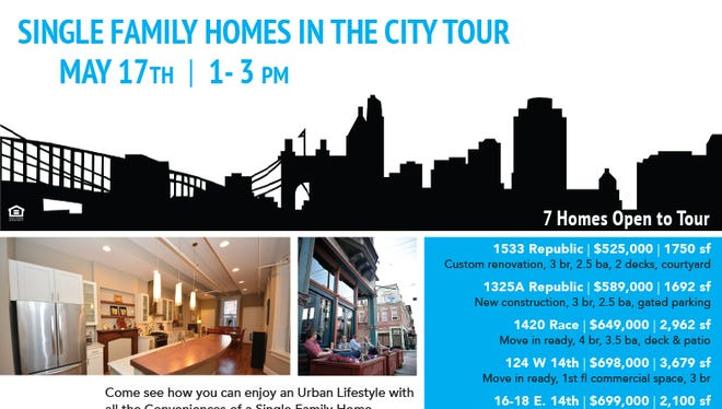 A new home tour by Coldwell Banker features single-family homes in Over-the-Rhine and Downtown.