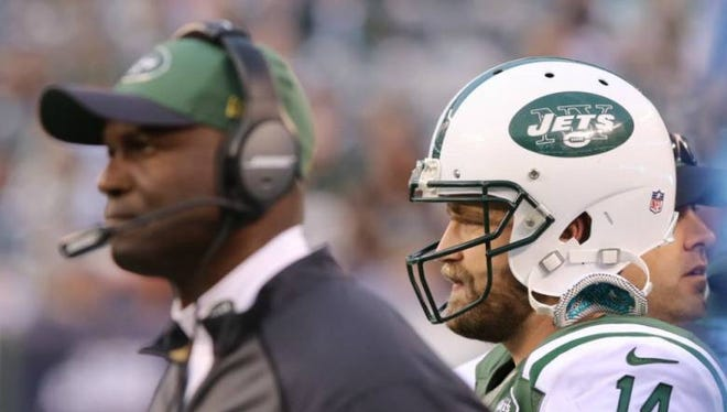Todd Bowles and Ryan Fitzpatrick are usually all business, making them a formidable leadership team for the Jets.