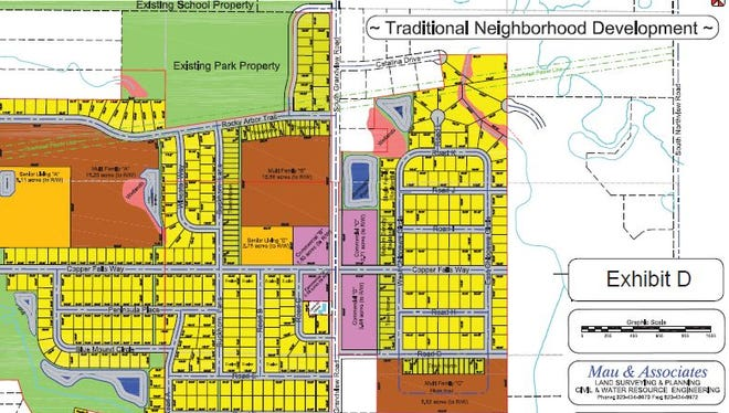 The plans for Grandview Place include a mix of housing options and businesses intended to serve residents within walking distances.