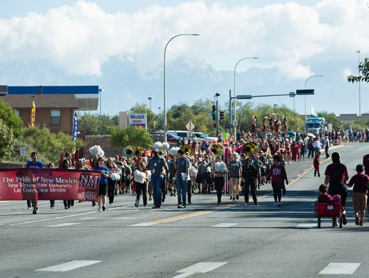 100116 NMSU Homecoming Parade
