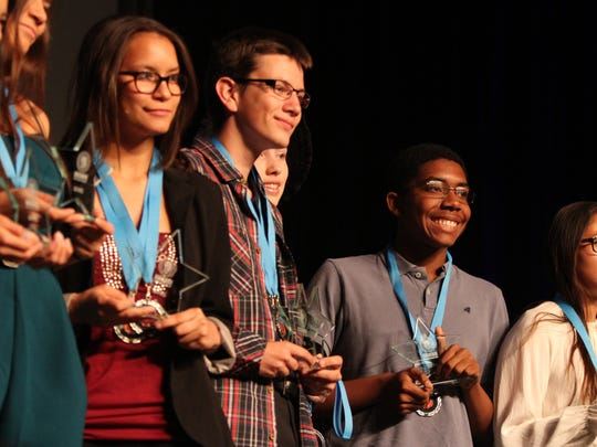 Student filmmakers receive awards during The 2016 DIGICOM Film Festival held at the Palm Springs Convention Center in Palm Springs on Tuesday, May 3, 2016.