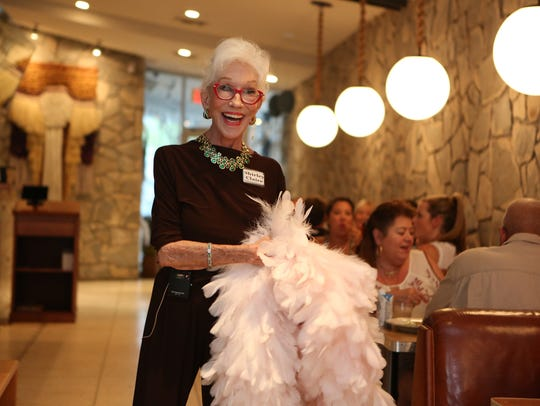 """Shirley Claire is the newest bingo caller who also sings during bingo night at King's Highway Diner at Ace Hotel and Swim Club in Palm Springs. Claire is a former Palm Springs Follies showgirl and appeared on """"America's Got Talent."""""""
