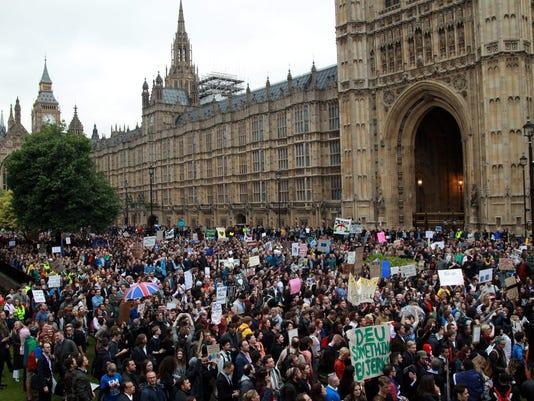 EPA BRITAIN ANTI LEAVE DEMONSTRATION BREXIT POL CITIZENS INITIATIVE & RECALL GBR