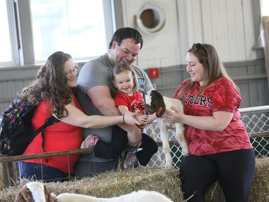 Petting farm at the 2107 Rutgers Day.