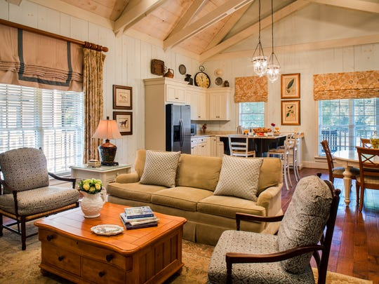 Cottages at Barnsley Resort offer a blend of modern country luxury and antique charm.