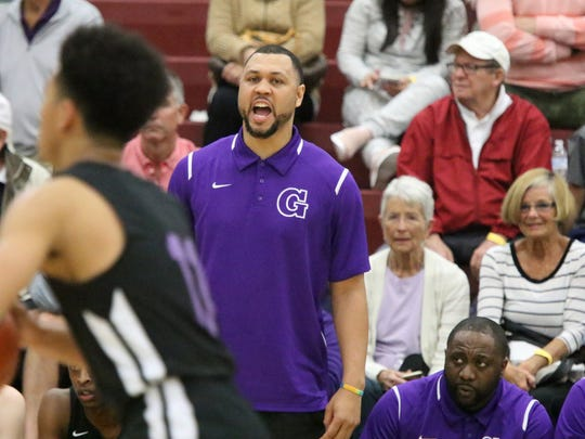 12/28/17 Taya Gray, Special to The Desert SunGarfield High's head coach and former NBA player, Brandon Roy, coaches his team during the Rancho Mirage Holiday Invitational in Ranch Mirage on Thursday, December 28, 2017.
