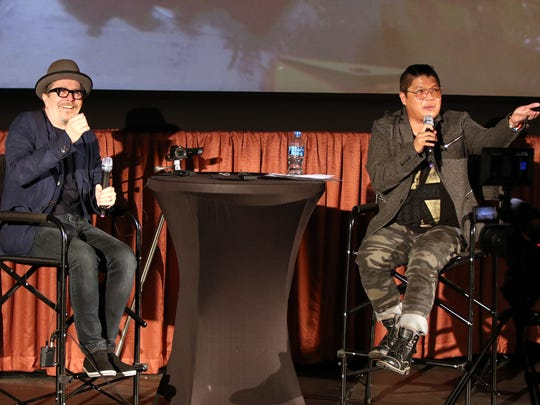"Actor Gary Oldman participates in a Q&A with Manny the Movie Guy of KMIR after a screening of ""Darkest Hour"" at the Mary Pickford Theater in Cathedral City on Sunday, February 11, 2018."
